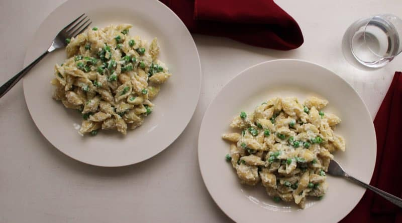 Creamy Shells with Peas and Ricotta