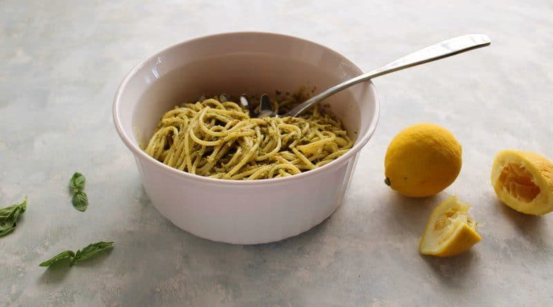 Lemon Pesto with Kale and Almonds
