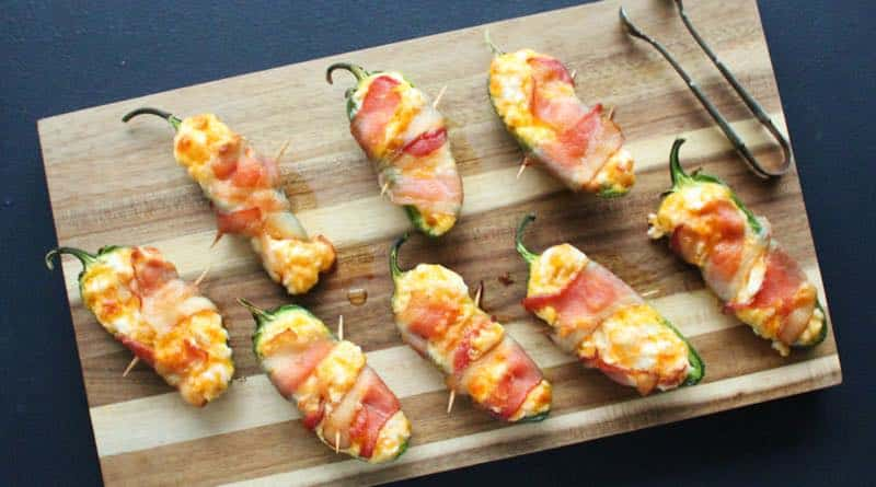 Bacon Wrapped Jalapeño Poppers